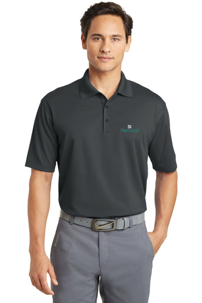 Norwood Nike Golf Dri-Fit Micro Pique Polo - Dark Gray