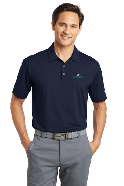 Norwood Nike Golf Dri-Fit Vertical Mesh Polo- Navy