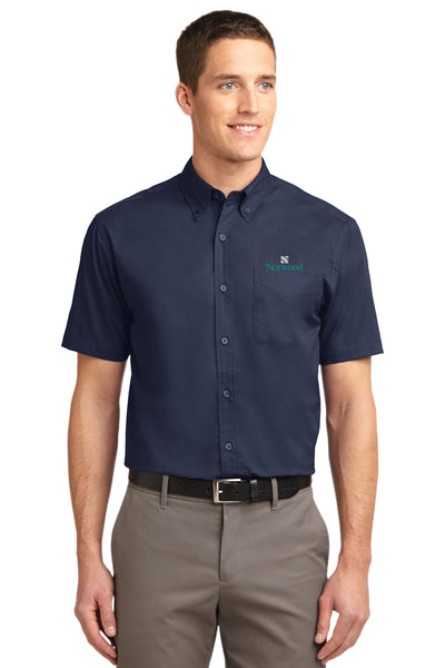 Norwood Short Sleeved Easy Care Shirt- Navy
