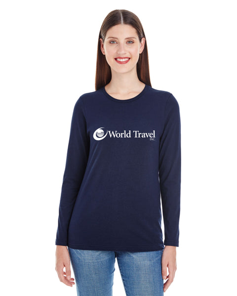 Womens World Travel Garment Dyed T-shirt- NEW!