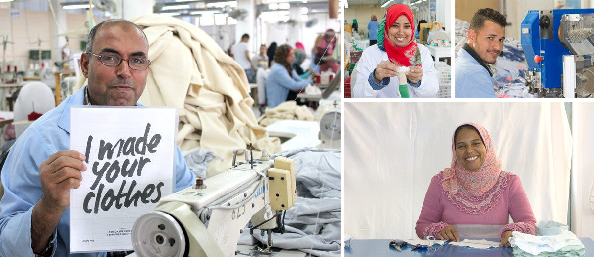 People making Under the Nile clothing at a certified Fair Trade facility