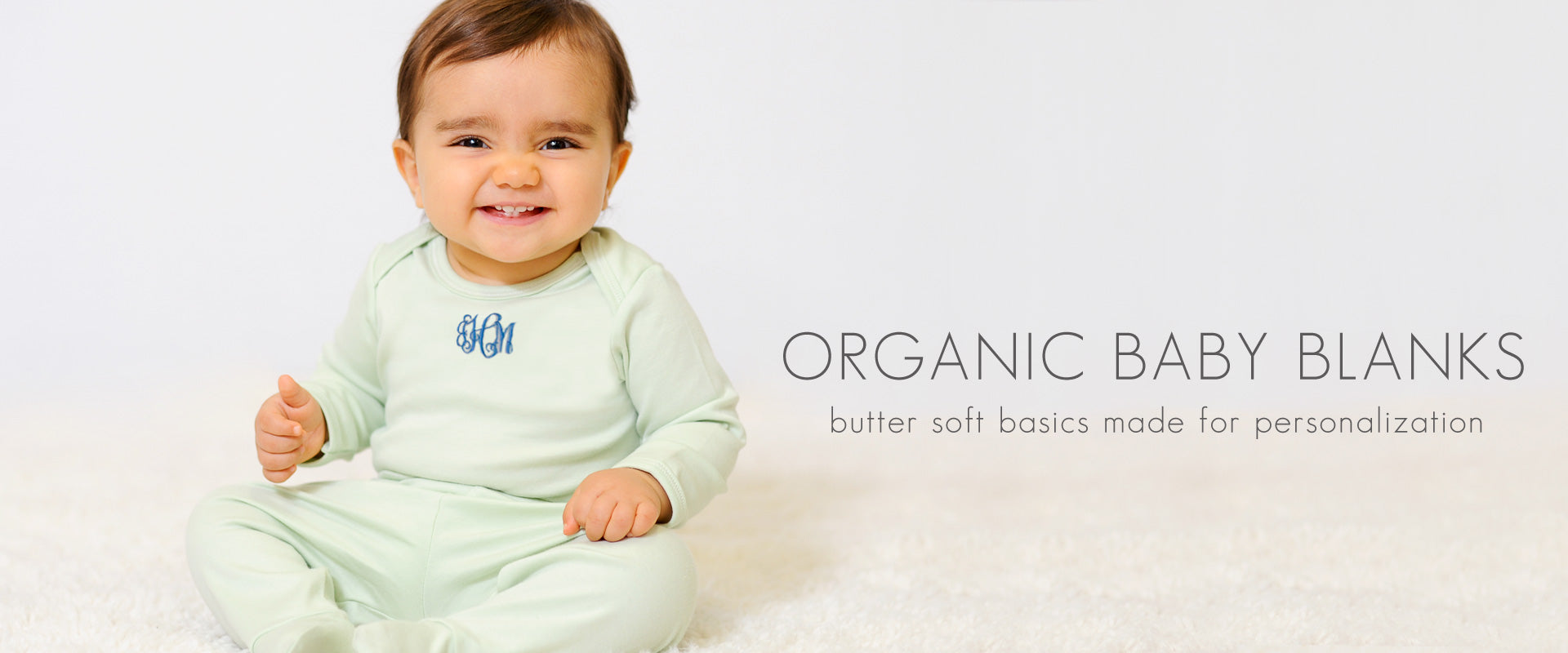 Personalized Organic Baby Blanks