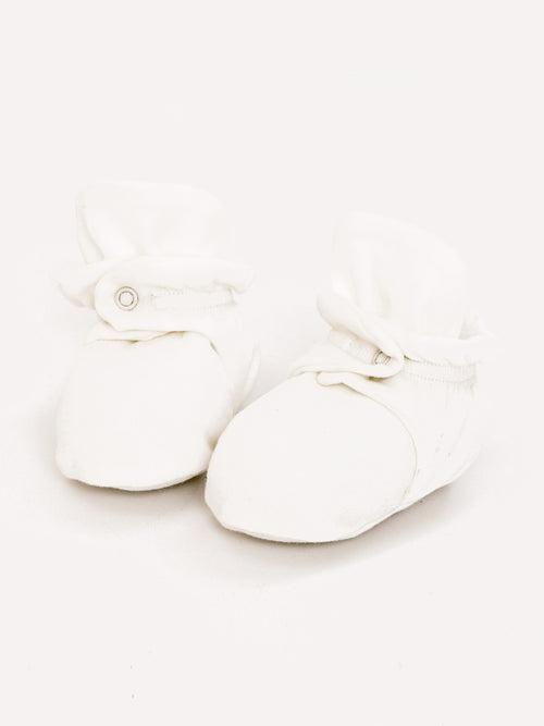 Snap Booties - White