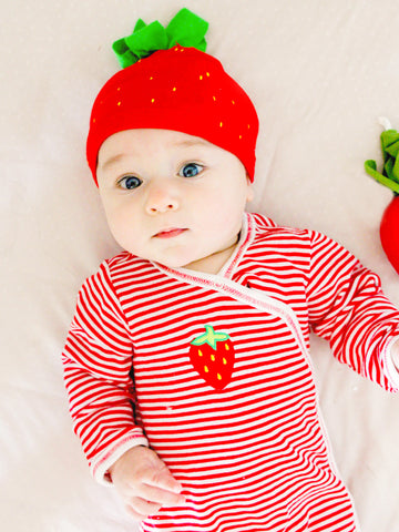 Baby Apple Beanie - Veggie Stripe