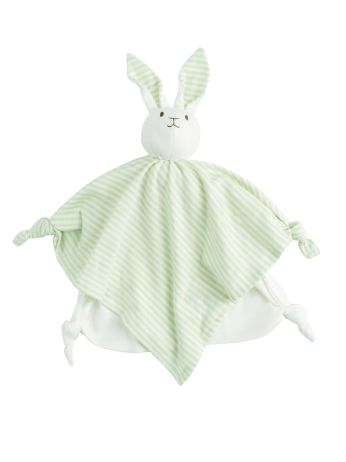 Lovey Bunny Blanket Friend - Sage Stripe