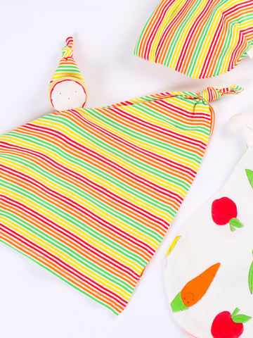 Strawberry Stripes Footie Gift Set