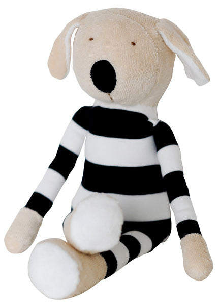 Buddy the Dog with Navy Rugby Stripes, 100% Organic Cotton
