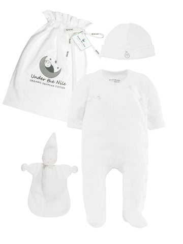 Footed Pant - Organic White Value Pack