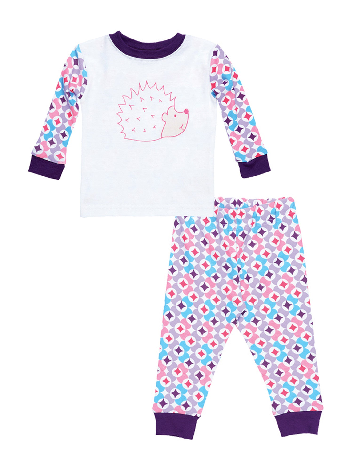 Kids Long Johns - Plum Prism Print