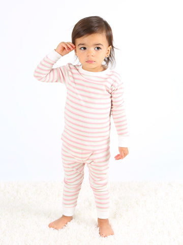 Baby and Kid Long Johns - Airplane Print Stripe