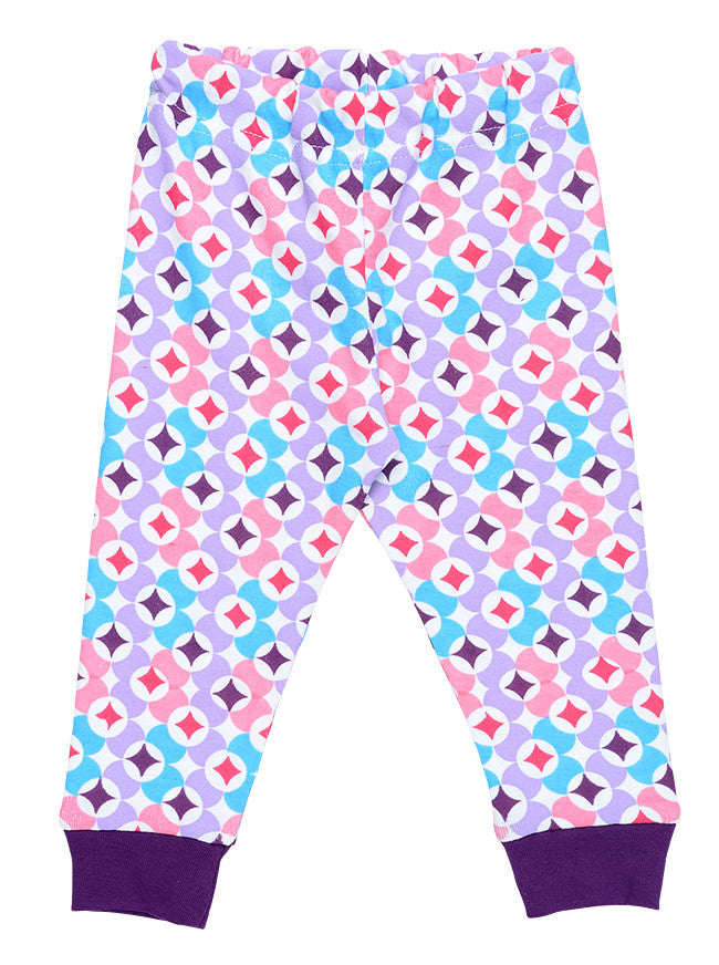 Baby Long Johns Bottoms - Plum Prism Print