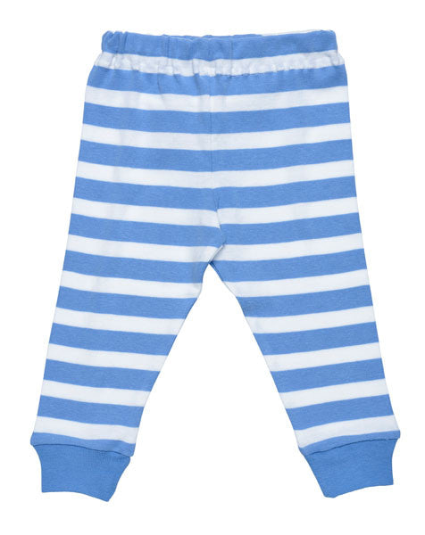 baby long johns with blue stripes