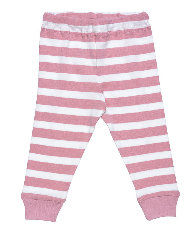 Baby Long Johns pants with pink stripe