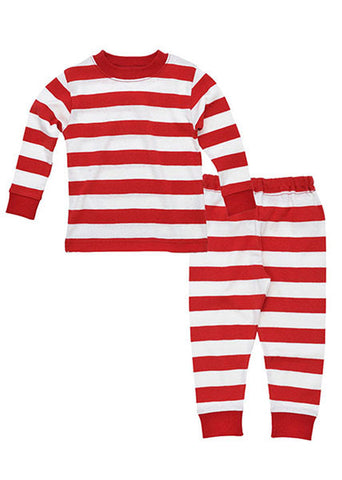 Kids Long Johns - Pink Stripes