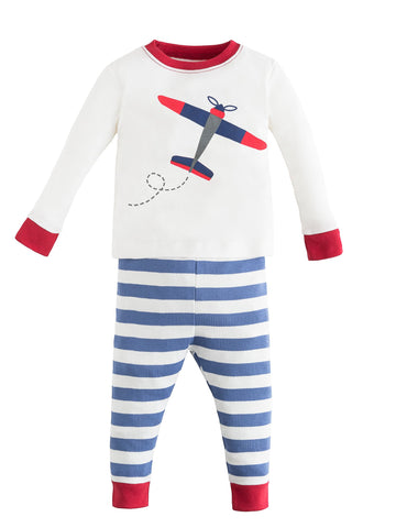 Baby Long Johns - Blue Stripe