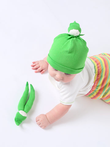 Baby Green Bean Stripe Beanie