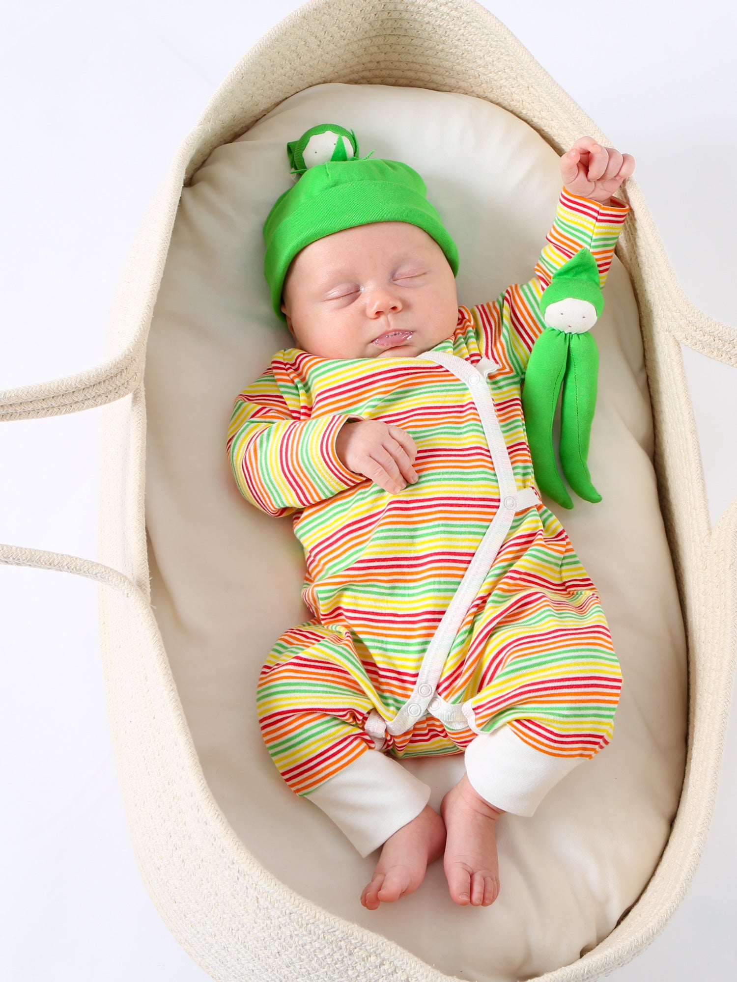 Baby Gift Set striped 100/% Organic Cotton Baby Romper and Swaddling Blanket:GOTS