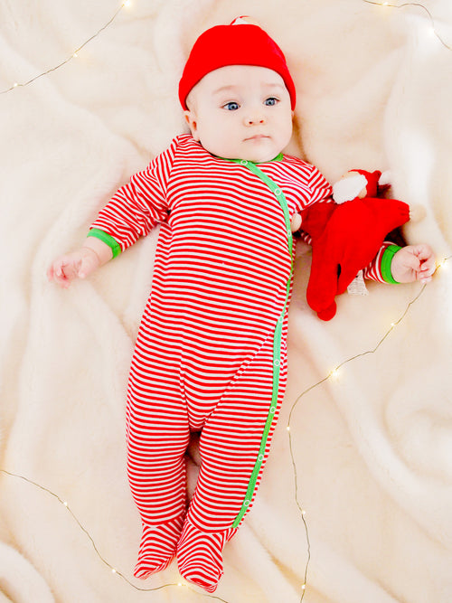 Baby Santa Holiday Beanie + Buddy Lovey Gift Set