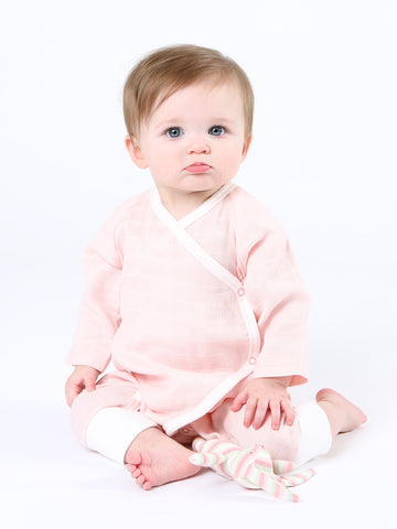 Long Sleeve Lap Shoulder Bodysuit - Pink