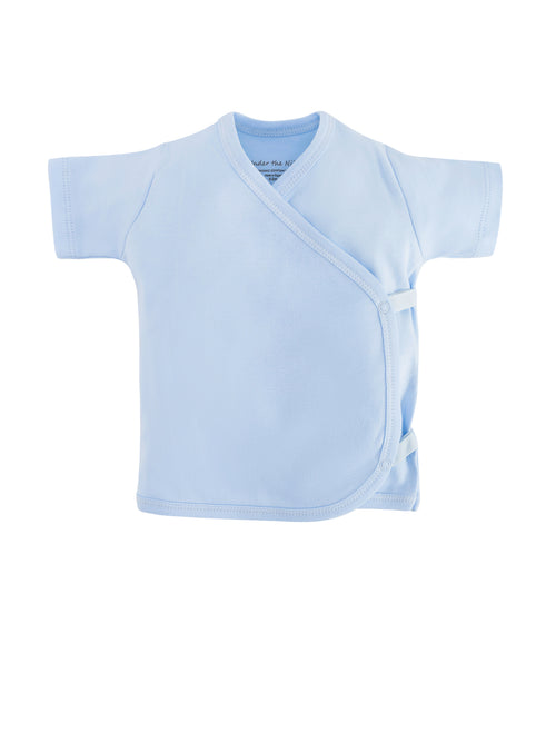 Short Sleeve Side Snap T-shirt - Pale Blue