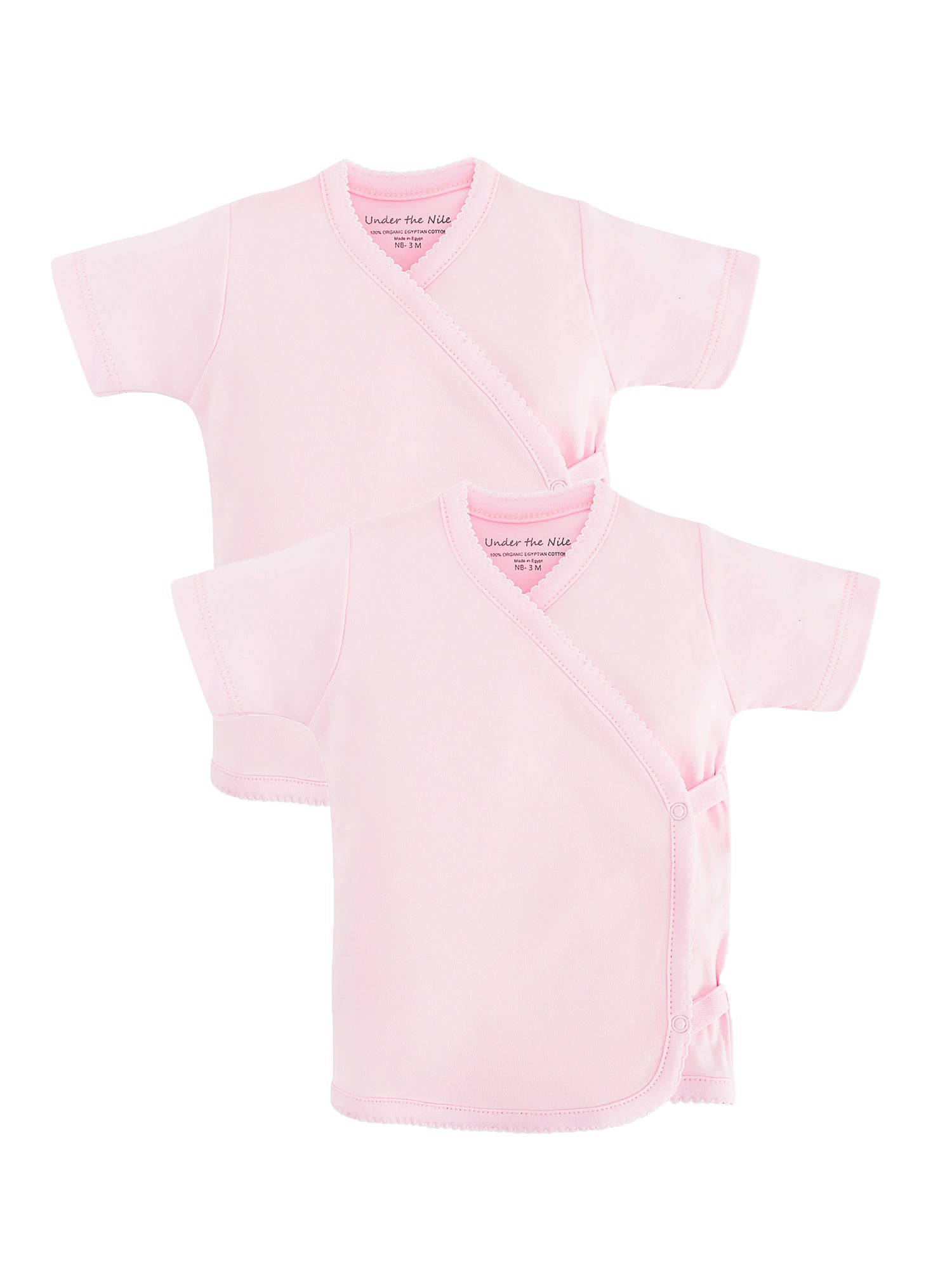 Short Sleeve Side Snap T-shirt - Pink Value Pack