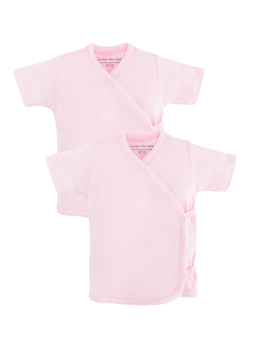 Short Sleeve Side Snap T-shirt - Pink
