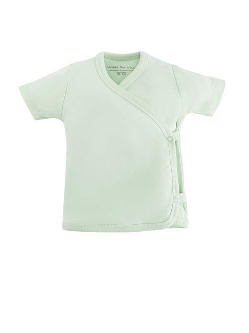 Short Sleeve Side Snap T-shirt - Green Value Pack