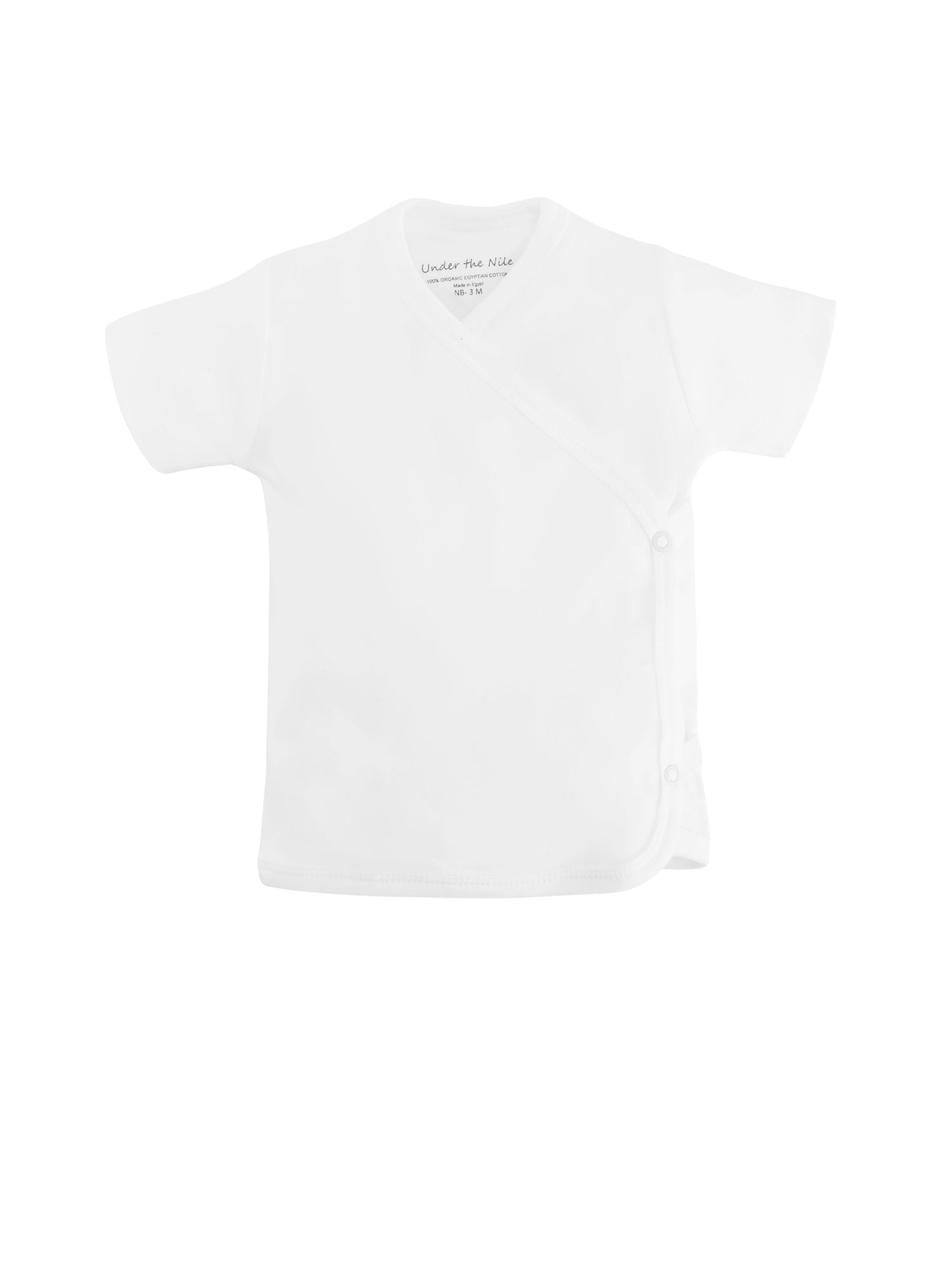 Short Sleeve Side Snap T-shirt - White Value Pack