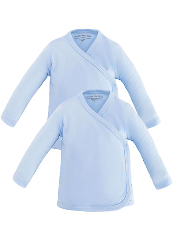 Long Sleeve Lap Shoulder Bodysuit - Blue Value Pack