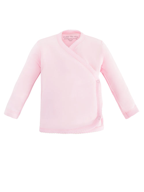 Long Sleeve Side Snap T-Shirt - Pink