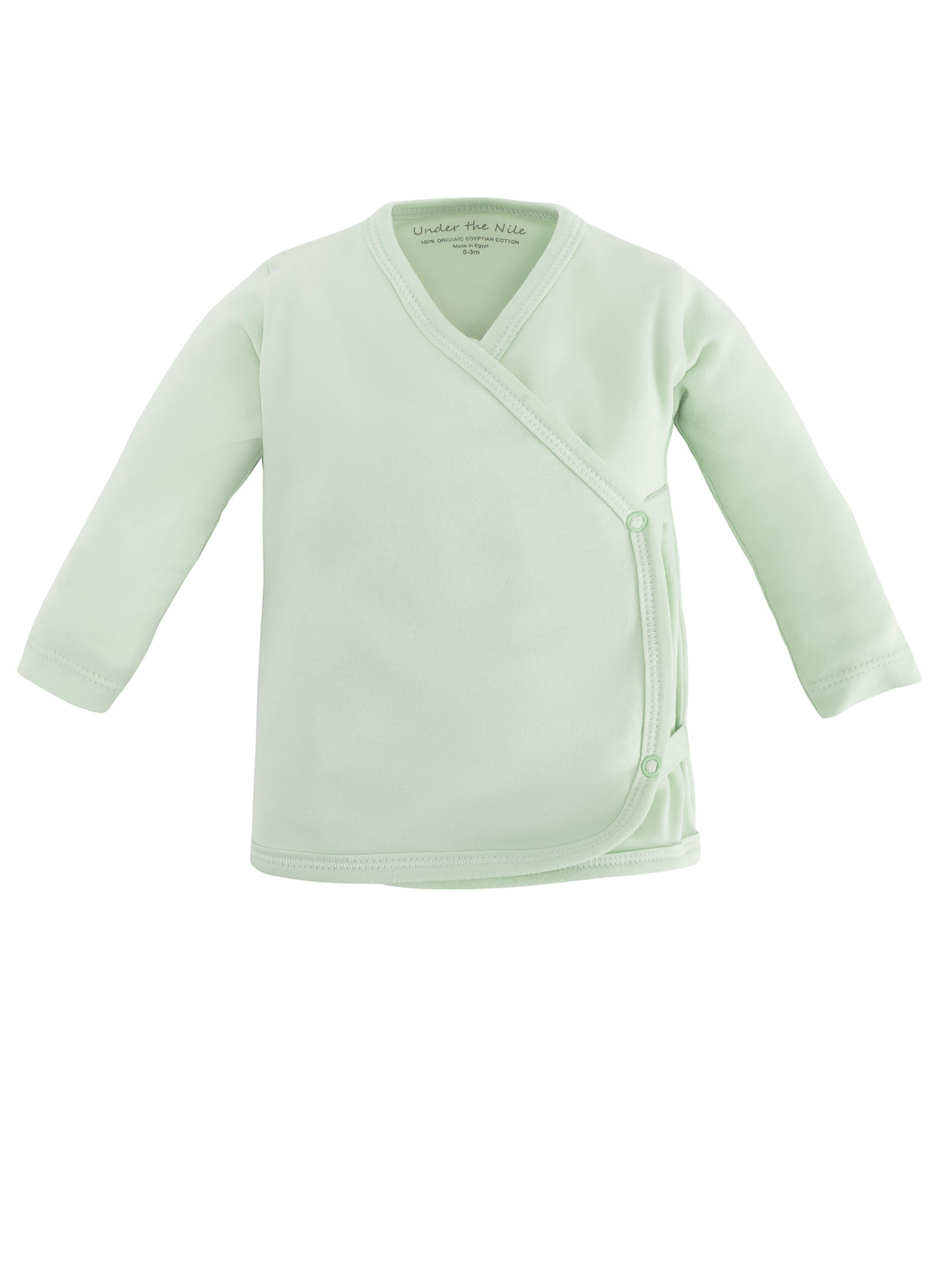 b40dcb864 Organic Cotton Sage Green Long Sleeve Side-Snap T-shirt for Baby ...