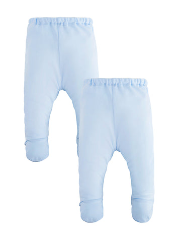 Legging with Oval Knee Patches - Pale Blue