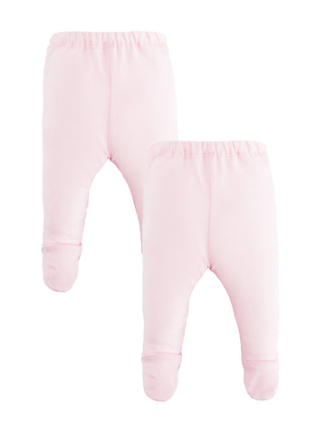Legging with Heart Knee Patches - Pale Pink