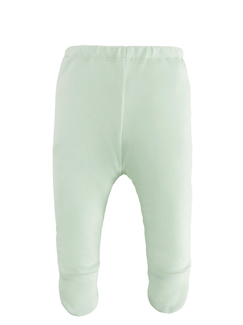Footed Pant - Solid green
