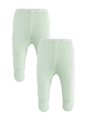 Baby Long Johns - Blue Creme Stripe