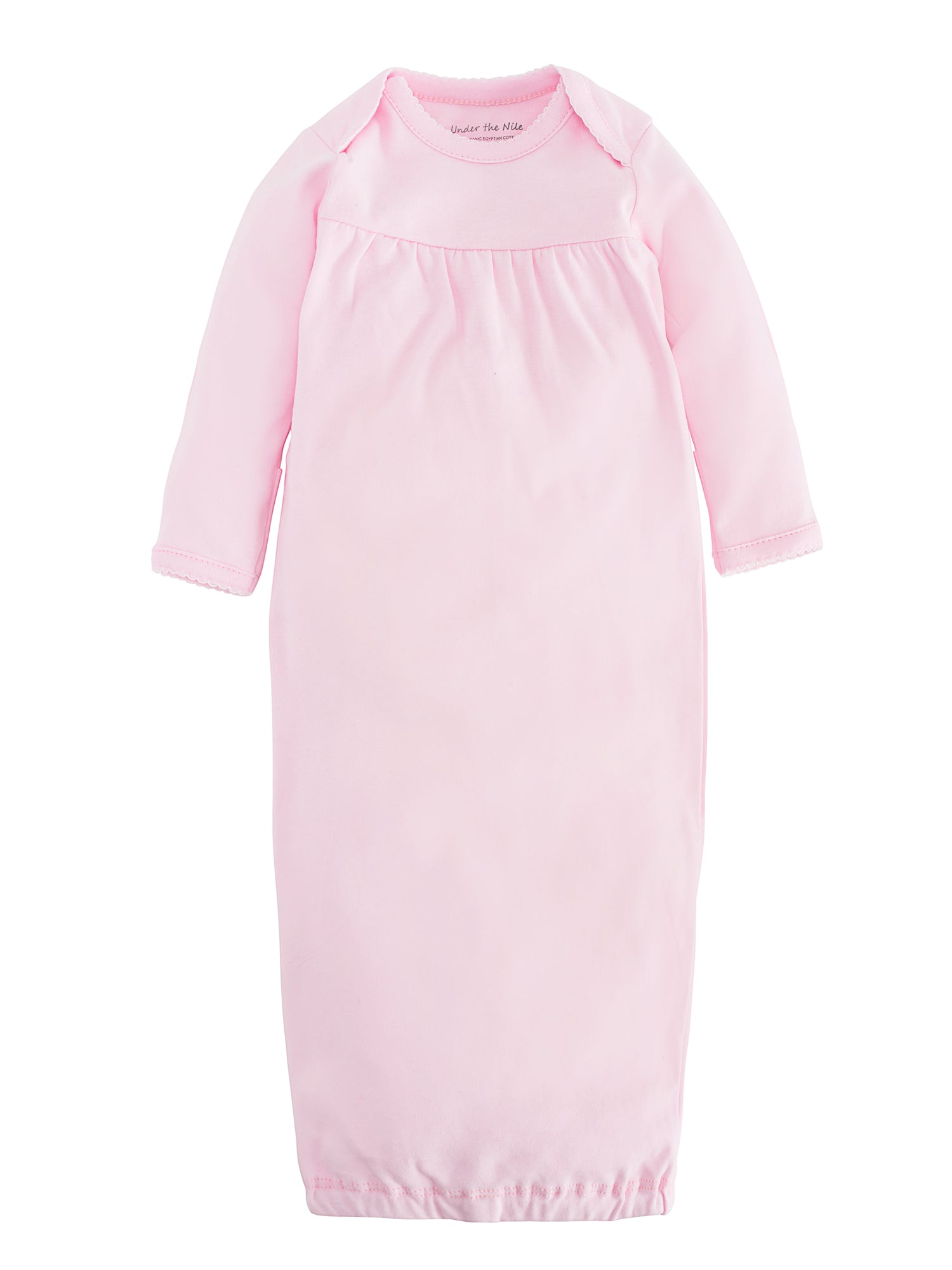 Organic Cotton Pink Baby Girl Gown Size 0-3m – Under the Nile