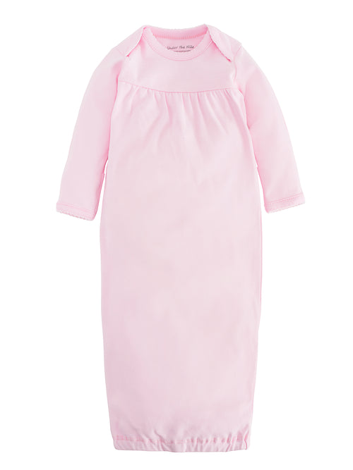 Baby Gown - Pink, Size 0-3m