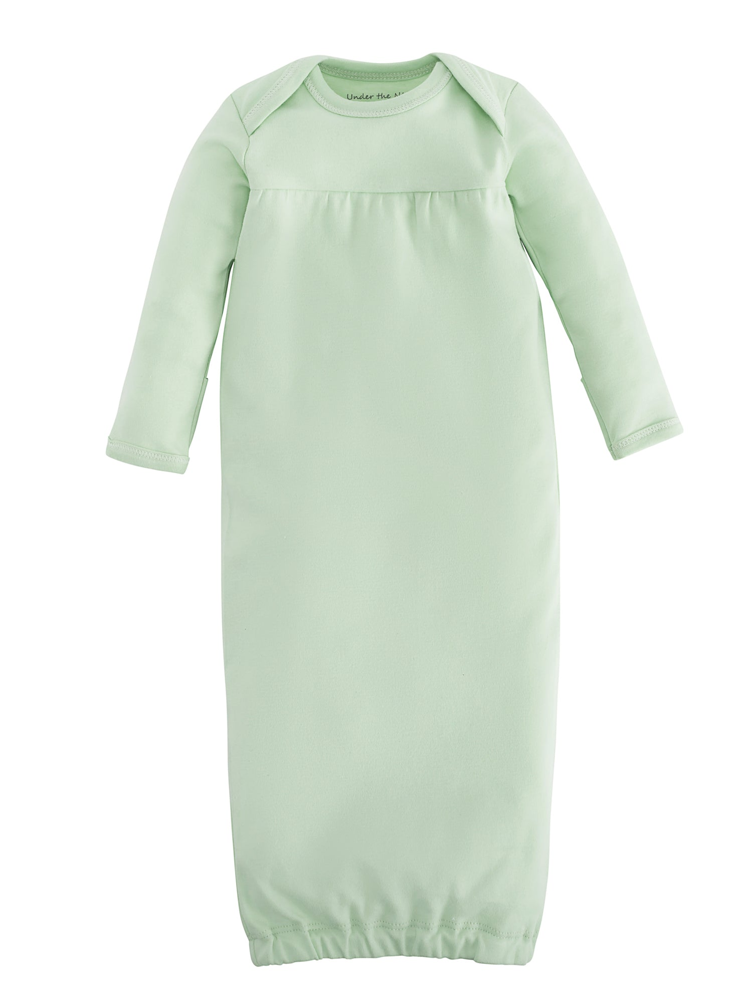 organic-cotton-baby-gown-onesie-sage-green-value-pack