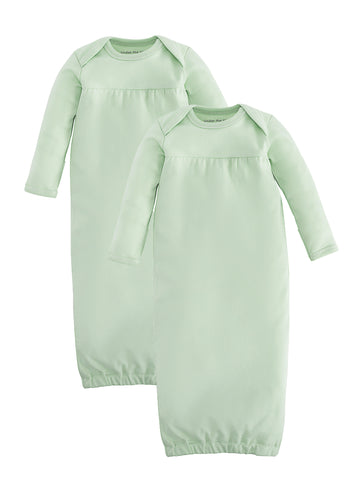 Baby Gown - Pale Blue, Size 0-3m