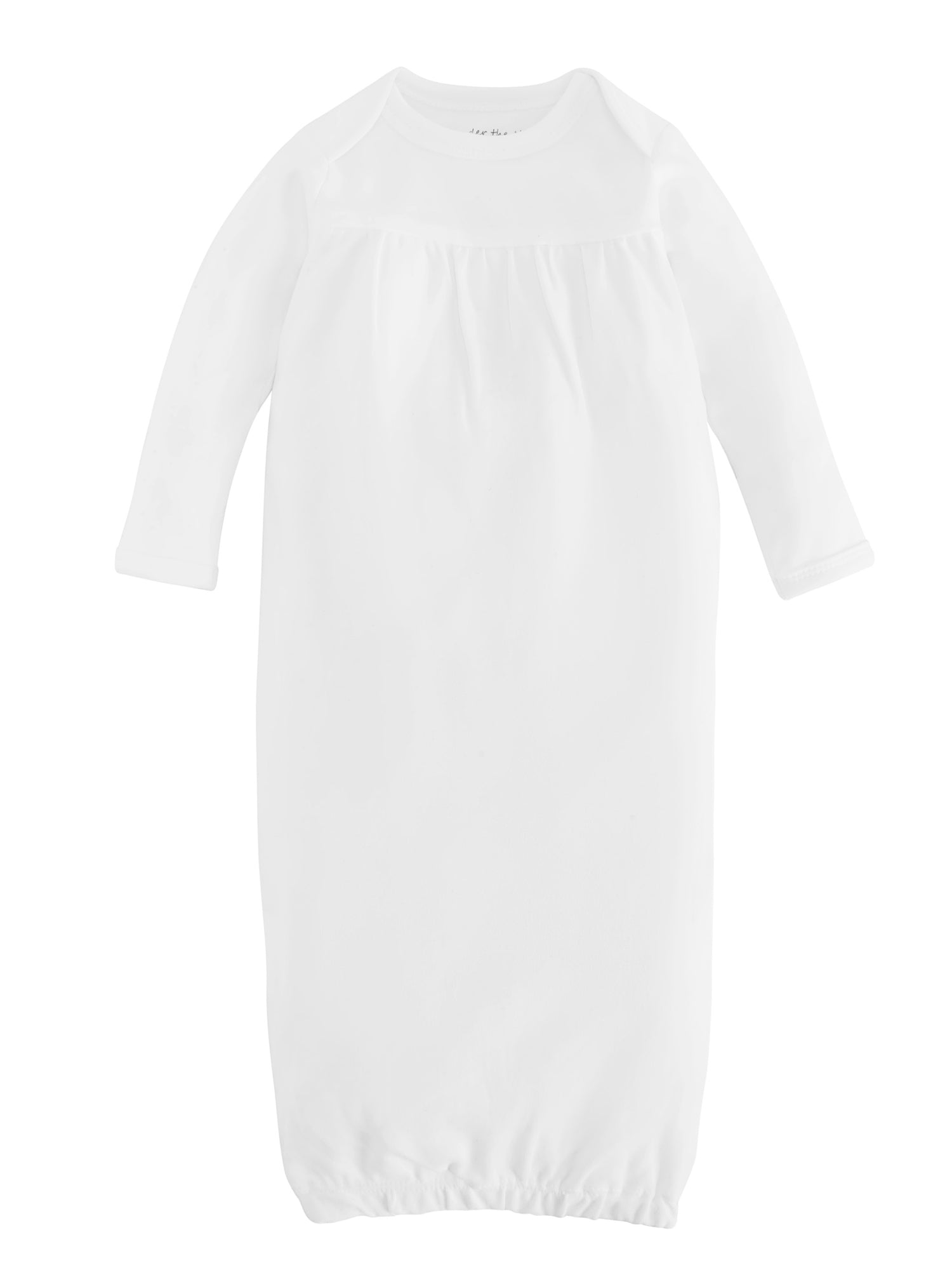 Organic Cotton Unisex Off White Baby Gown Size 0 3m