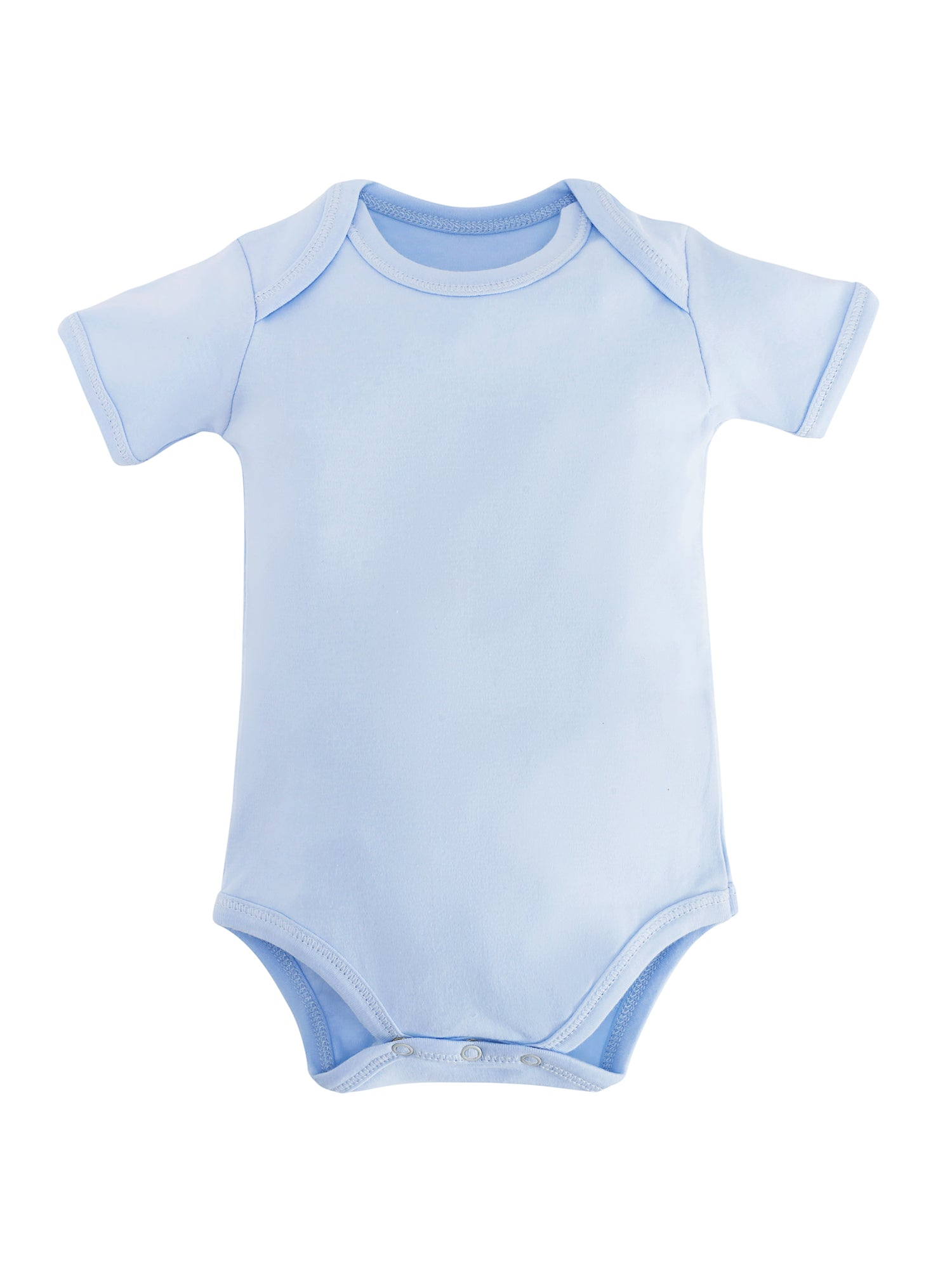 c2eba3a384132 Light Blue Organic Baby Bodysuit | Under the Nile