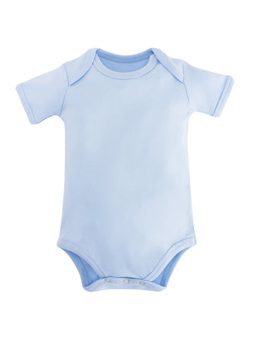 Long Sleeve Lap Shoulder Bodysuit - Pale Blue