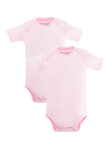 Side Snap Footie - Pink Value Pack