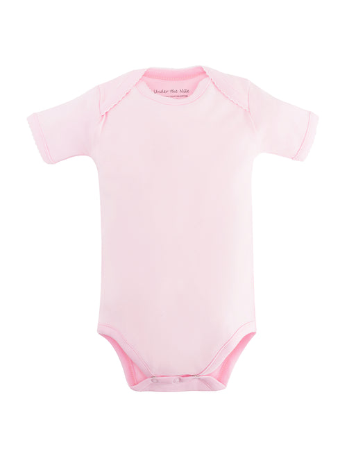 Short Sleeve Bodysuit - Pink