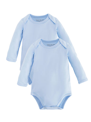 Long Sleeve Lap Shoulder Bodysuit - Organic White