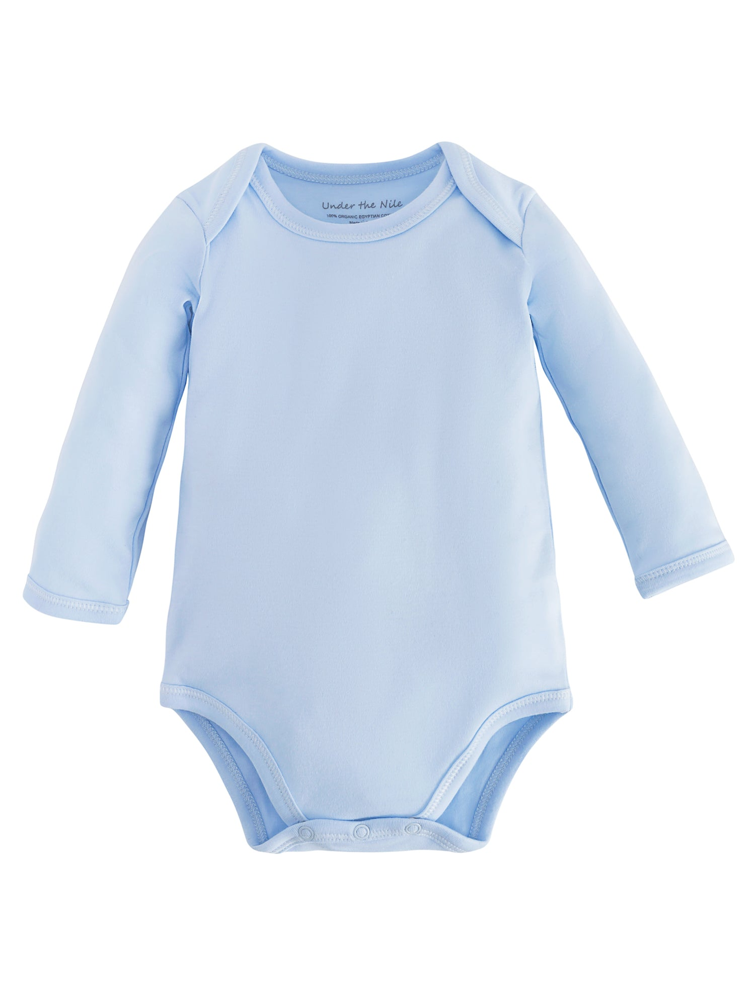 86046f552a Organic Cotton Baby Long Sleeve Bodysuit - Blue – Under the Nile
