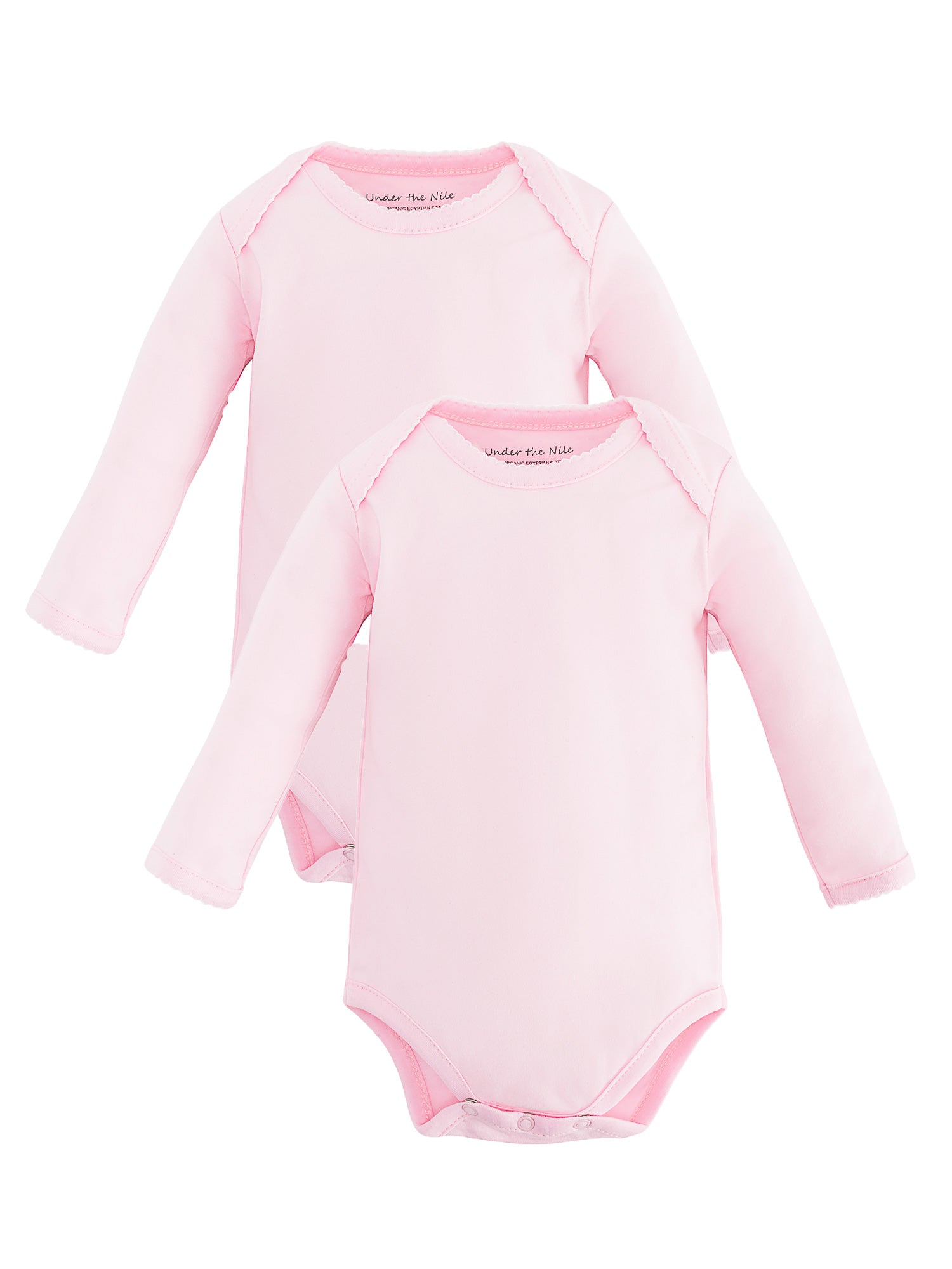Long Sleeve Lap Shoulder Bodysuit - Pink Value Pack