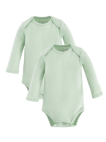 Long Sleeve Lap Shoulder Bodysuit - Sage Green