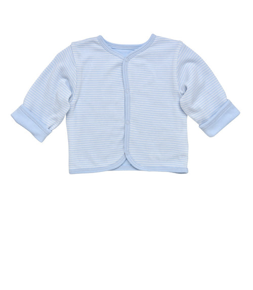 Reversible Cardigan - Pale Blue Stripe