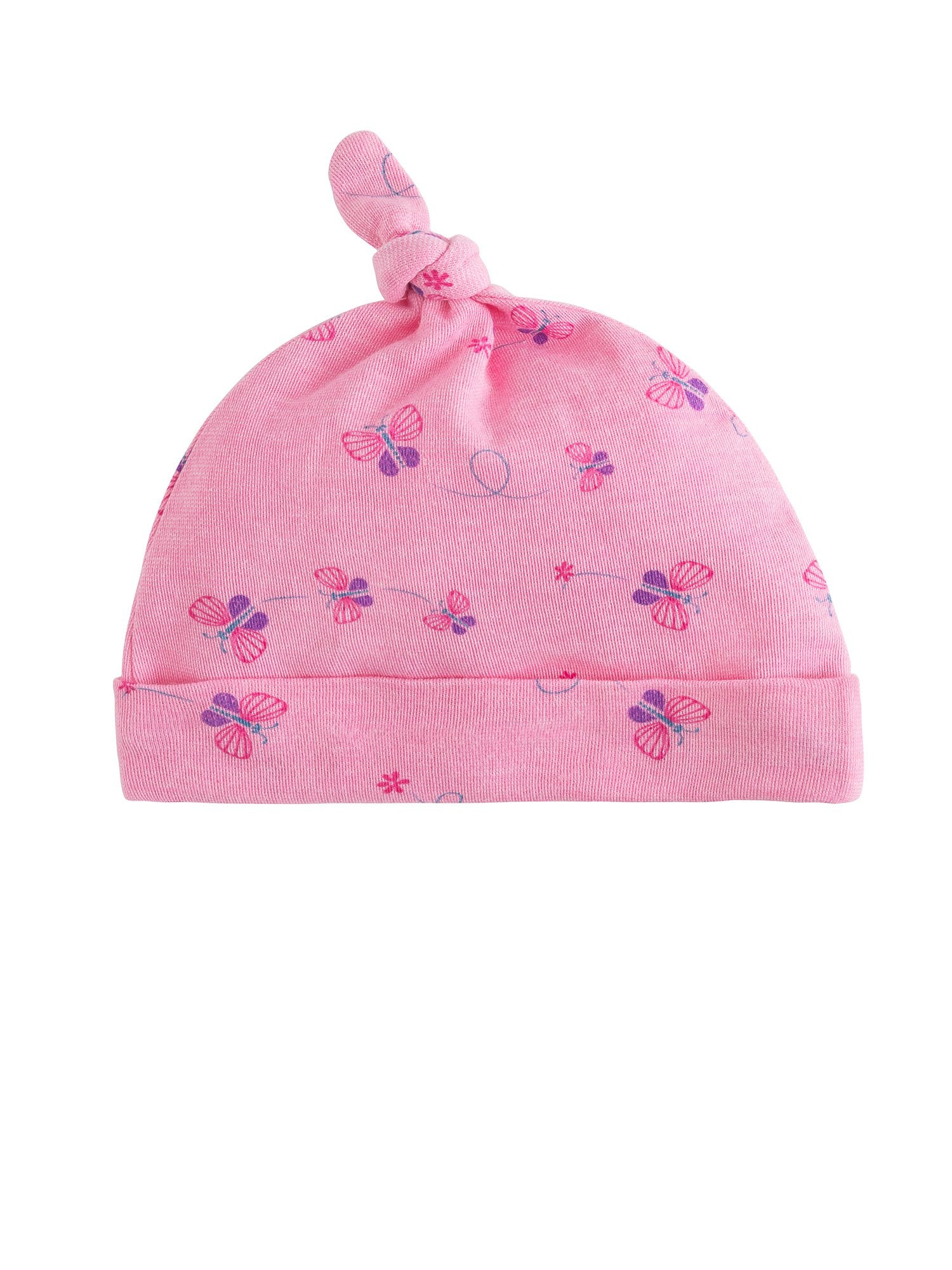 Organic Cotton Baby Knot Top Beanie Hat - Butterfly Print – Under the Nile 725bc6da708
